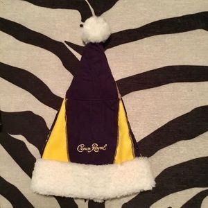 Crown Royal Bag Christmas Holiday Santa Hat
